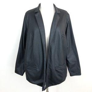 Lucky Brand Coated Active Blazer Jacket Black